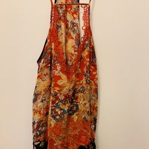 Free People Black and Red Dress
